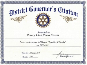 District Governor's Citation