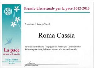 Premio distrettuale per la pace