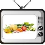 tv con cibo